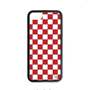 Red checkers iphone 6,7, 8 plus wildflower case